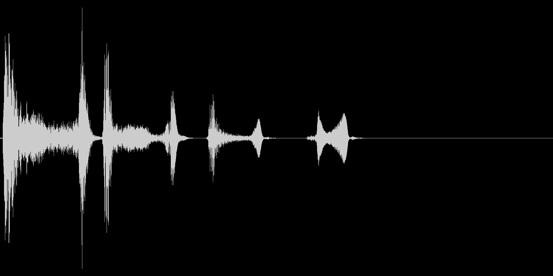 咳 ゴホッゴホッゴホッ3の未再生の波形