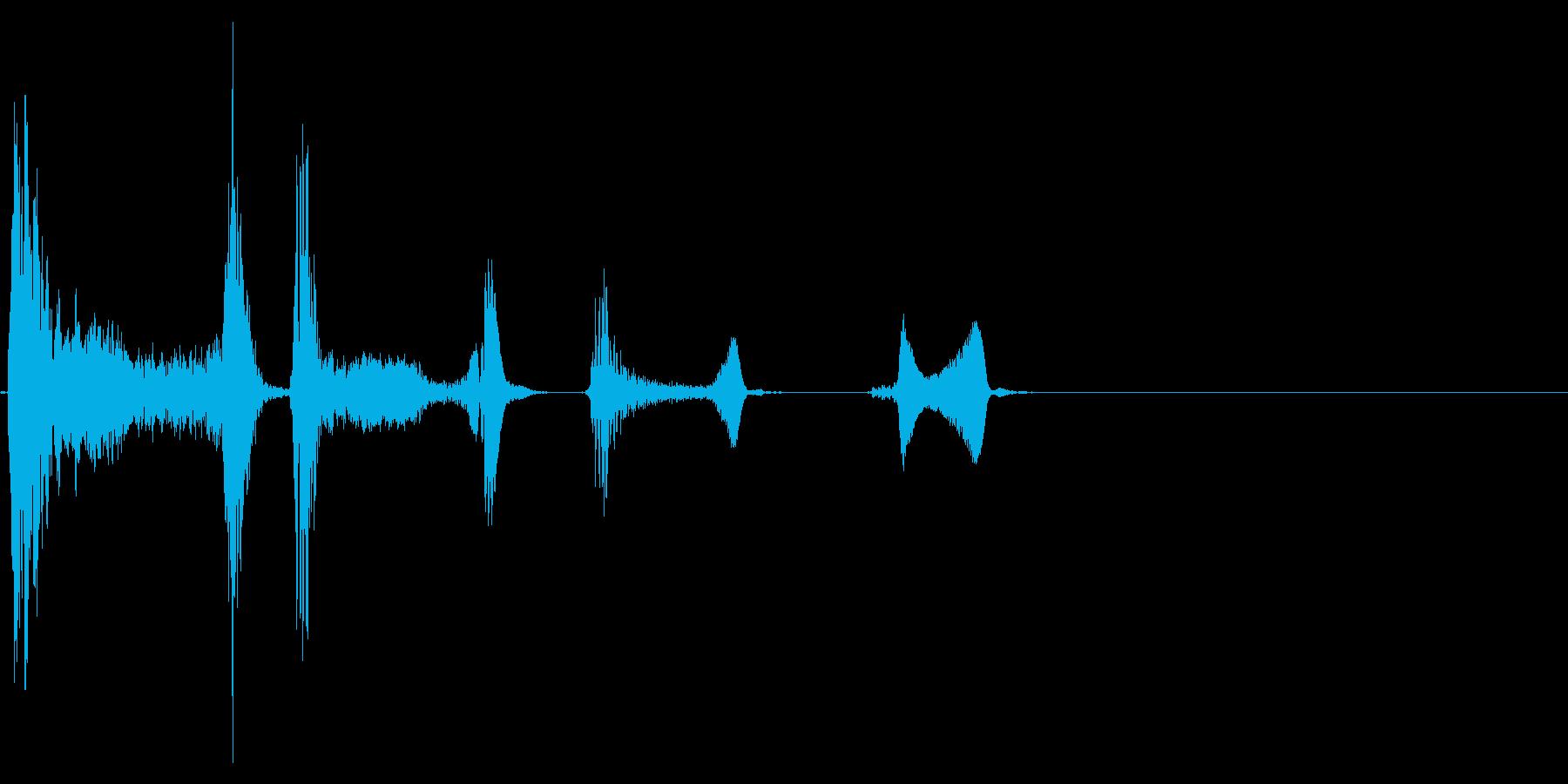 咳 ゴホッゴホッゴホッ3の再生済みの波形