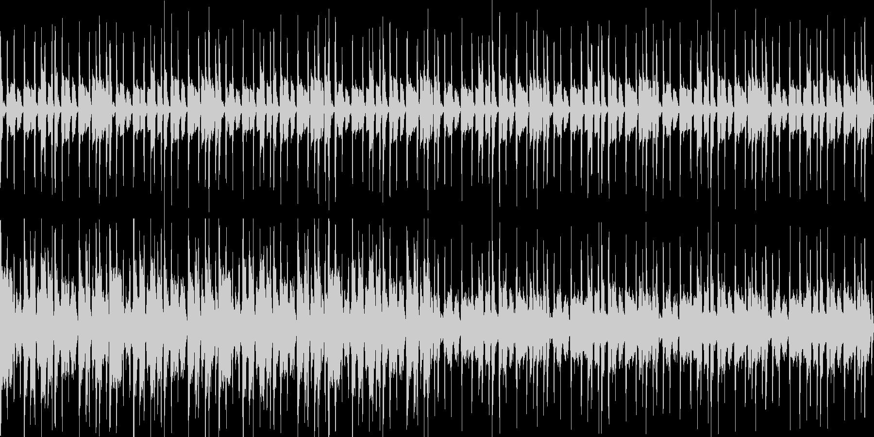 お洒落コードの少し大人な雰囲気のファンクの未再生の波形