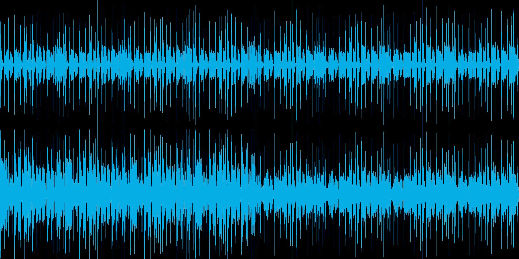 お洒落コードの少し大人な雰囲気のファンクの再生済みの波形