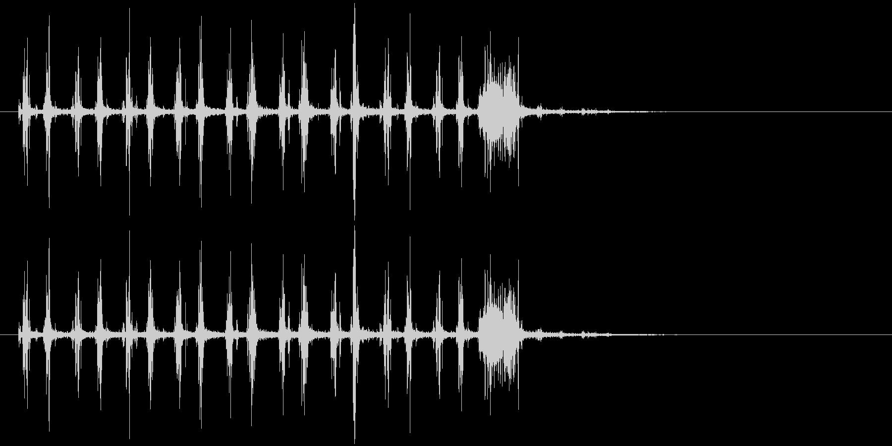音侍SE「シャカシャカ〜」木製鳴子の音2の未再生の波形