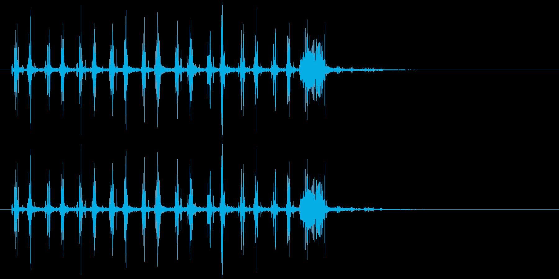 音侍SE「シャカシャカ〜」木製鳴子の音2の再生済みの波形