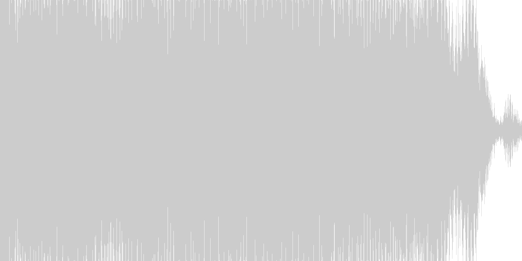 ドドドドド。ドリル・削岩機の音(長め)の未再生の波形
