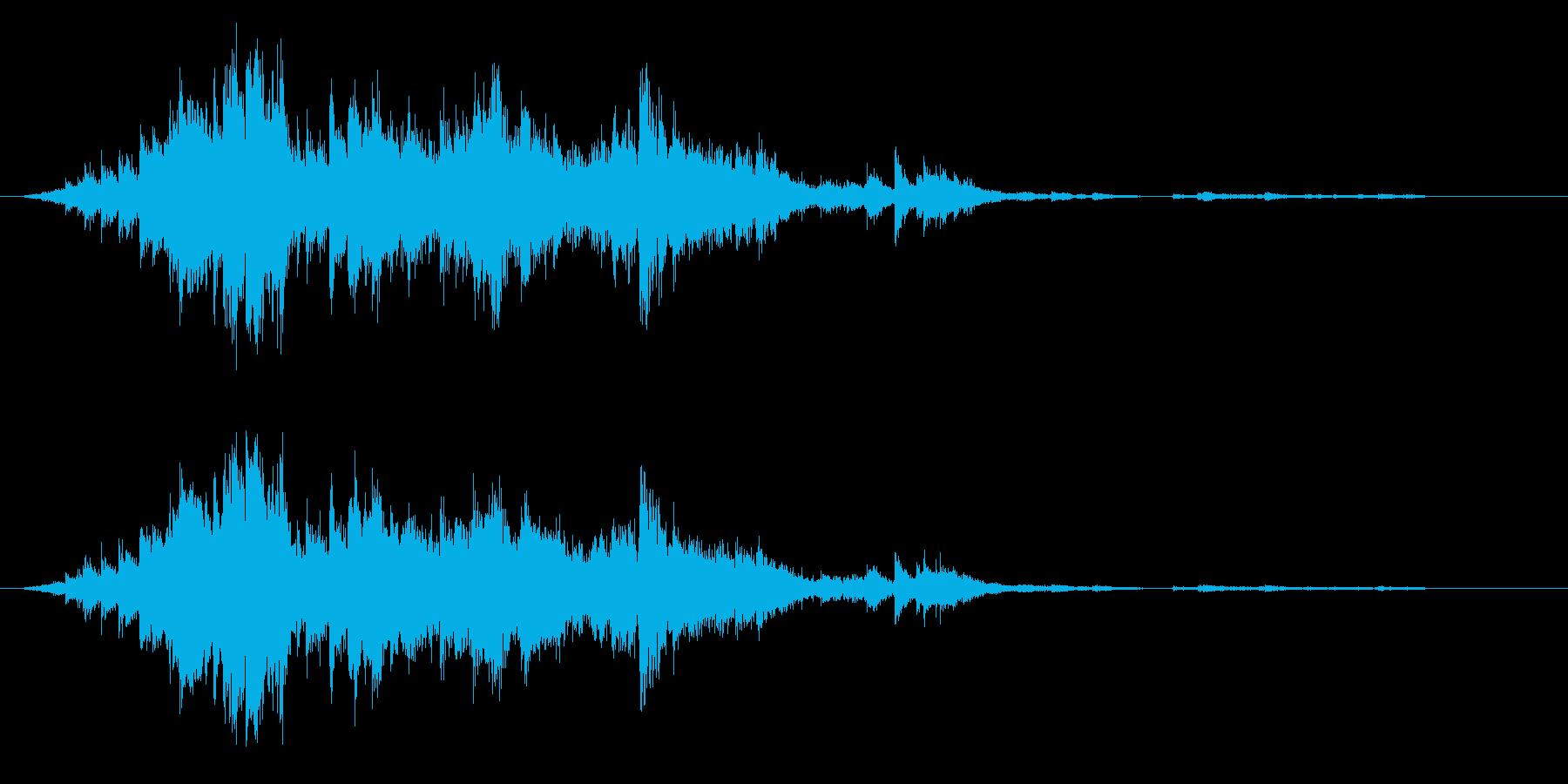 神社の鈴(すず)の再生済みの波形