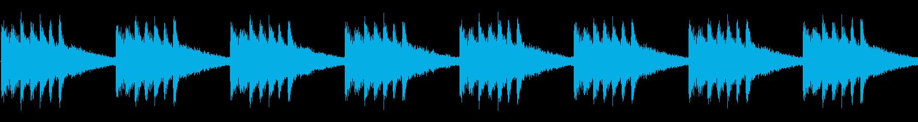 明るくおしゃれなかわいい着信音の再生済みの波形