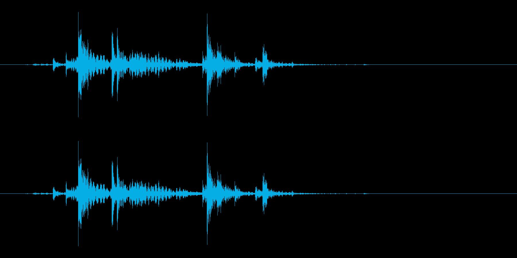 ガチャ(ドアの開閉音.05)の再生済みの波形