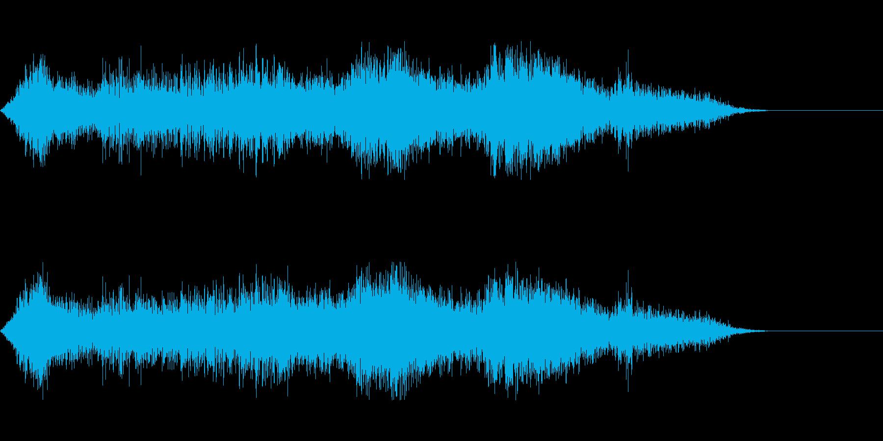 街の環境音(交通)の再生済みの波形