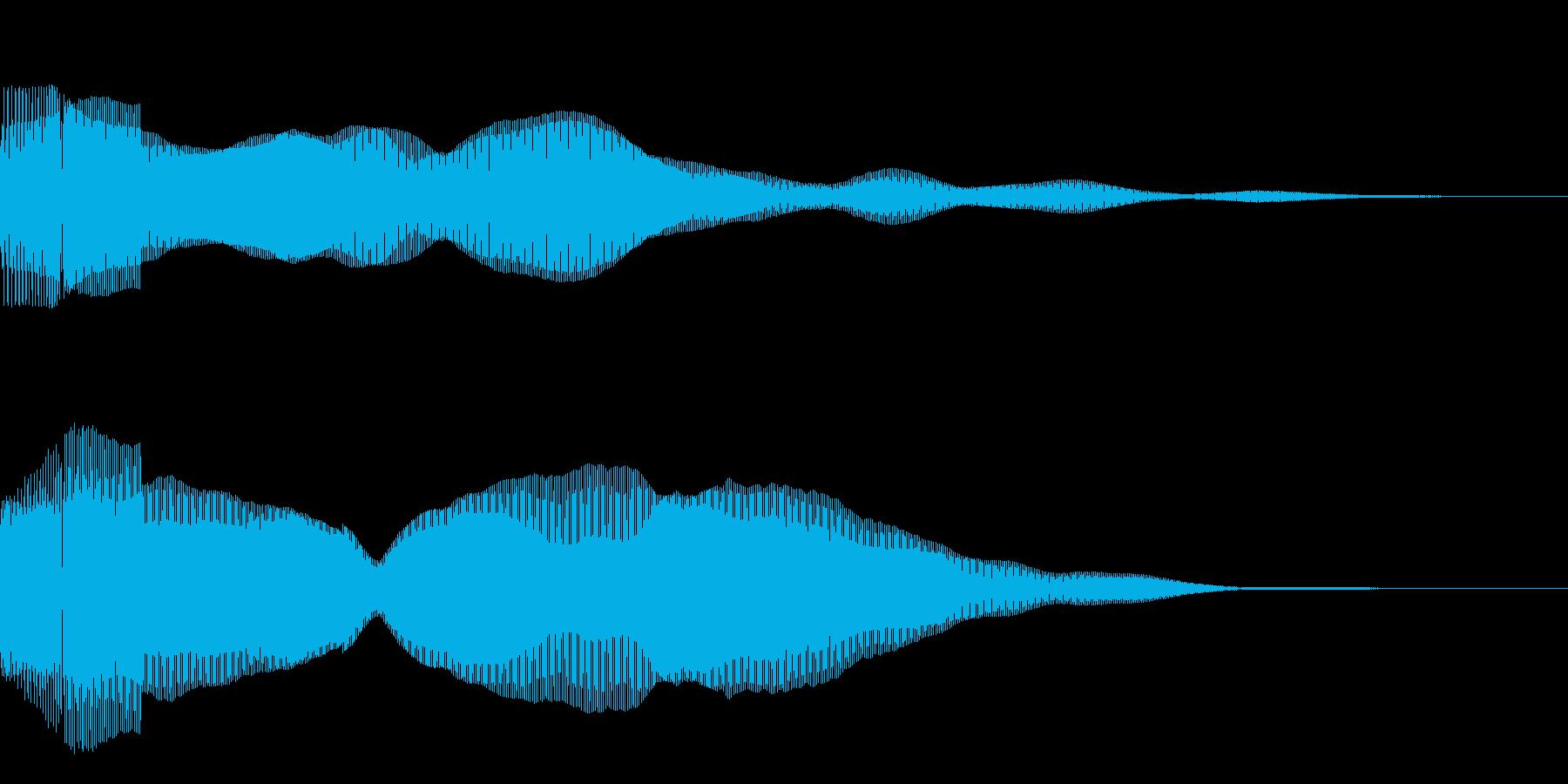決定/ボタン押下音(ピンッ)の再生済みの波形