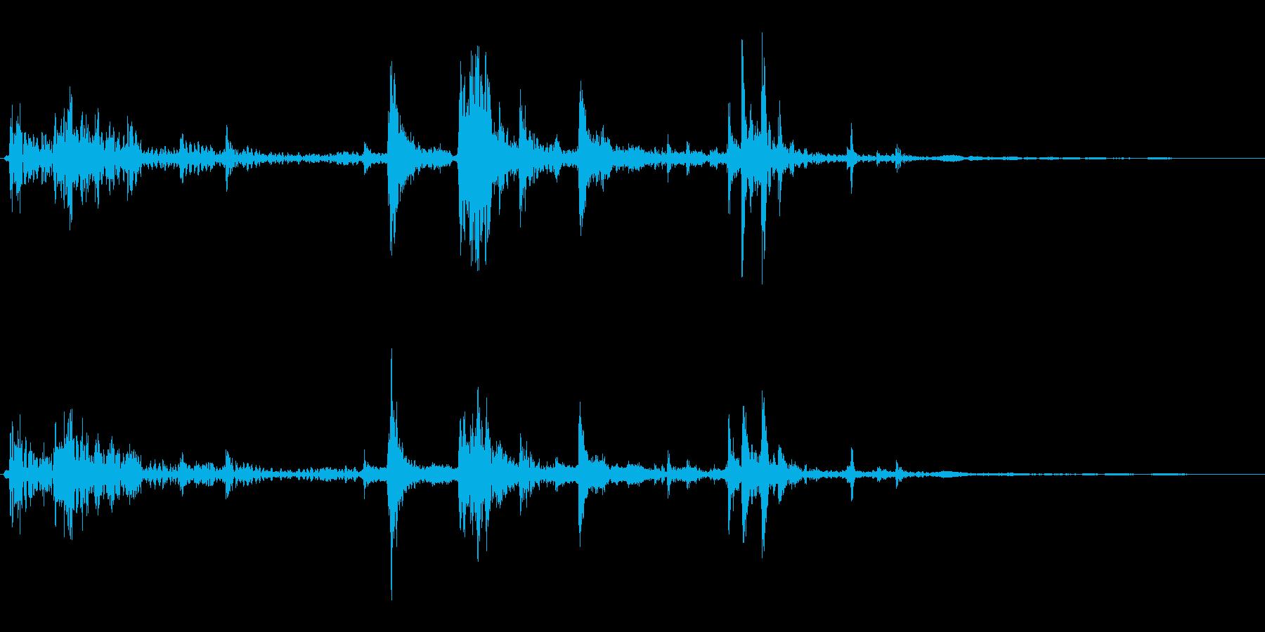 ガラガラガラ(牢屋へ入れられる)の再生済みの波形