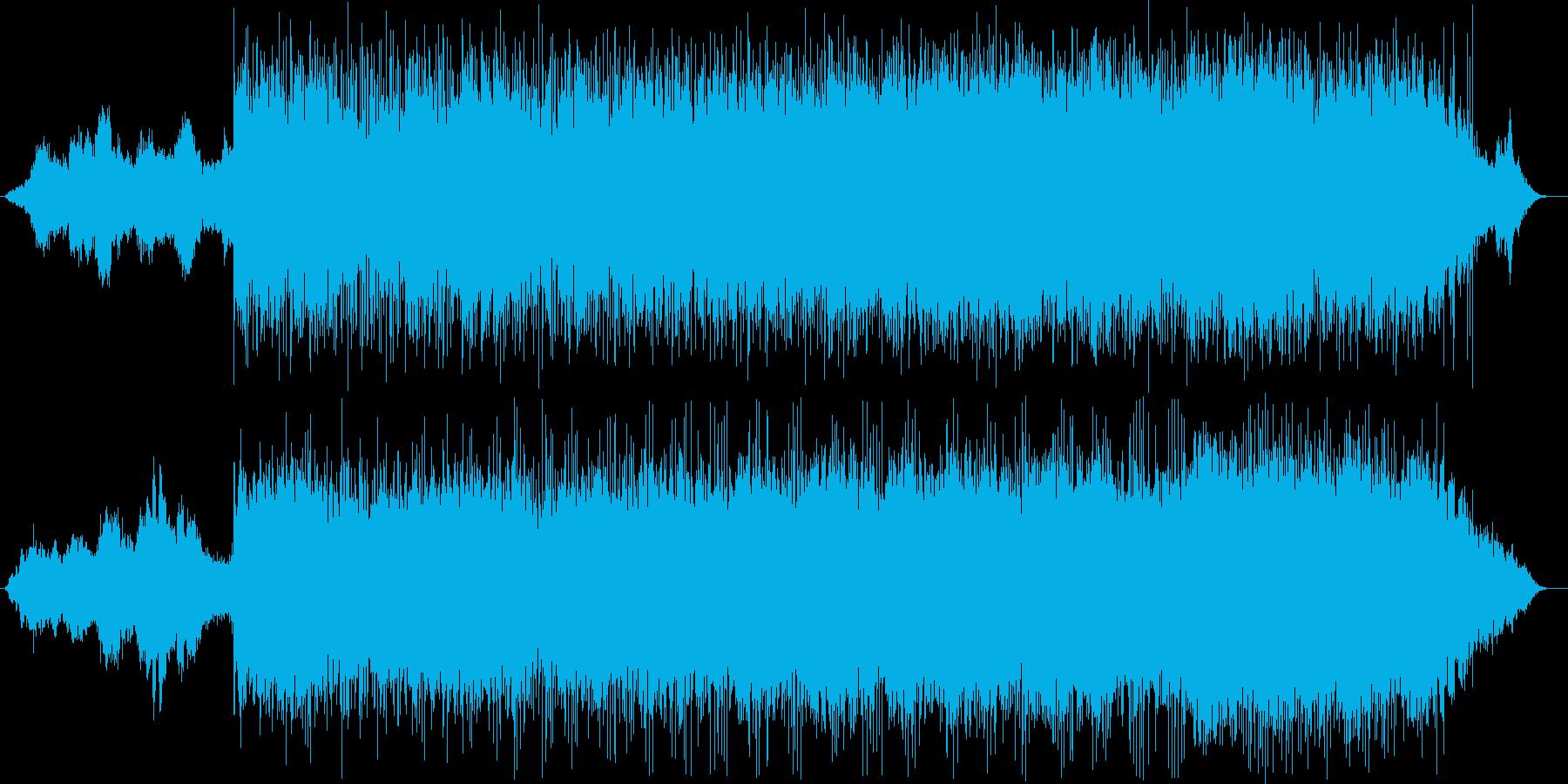 邪悪なものを退治する音楽の再生済みの波形