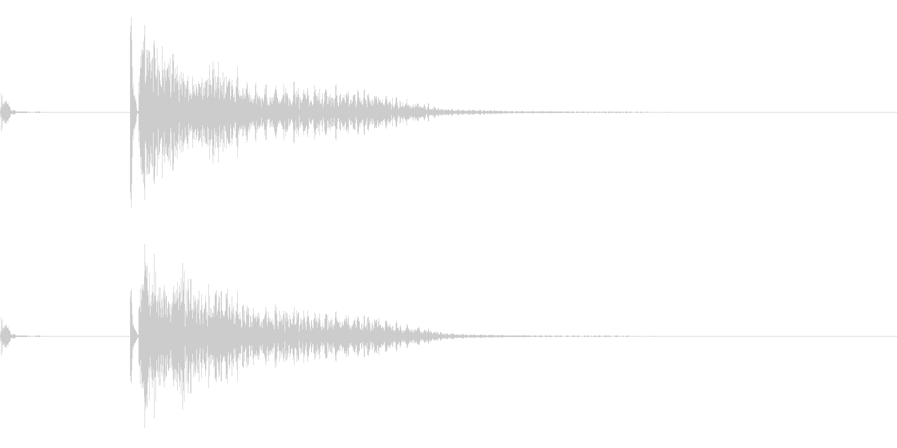 将棋の駒4 オセロ 効果音付きの未再生の波形