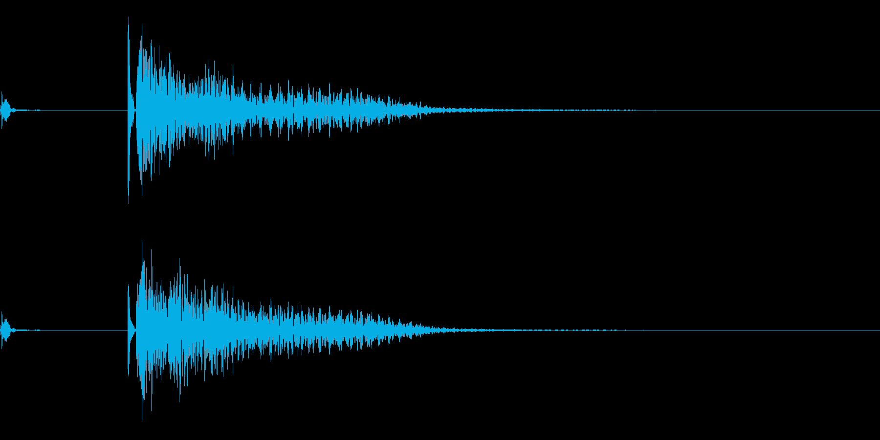 将棋の駒4 オセロ 効果音付きの再生済みの波形
