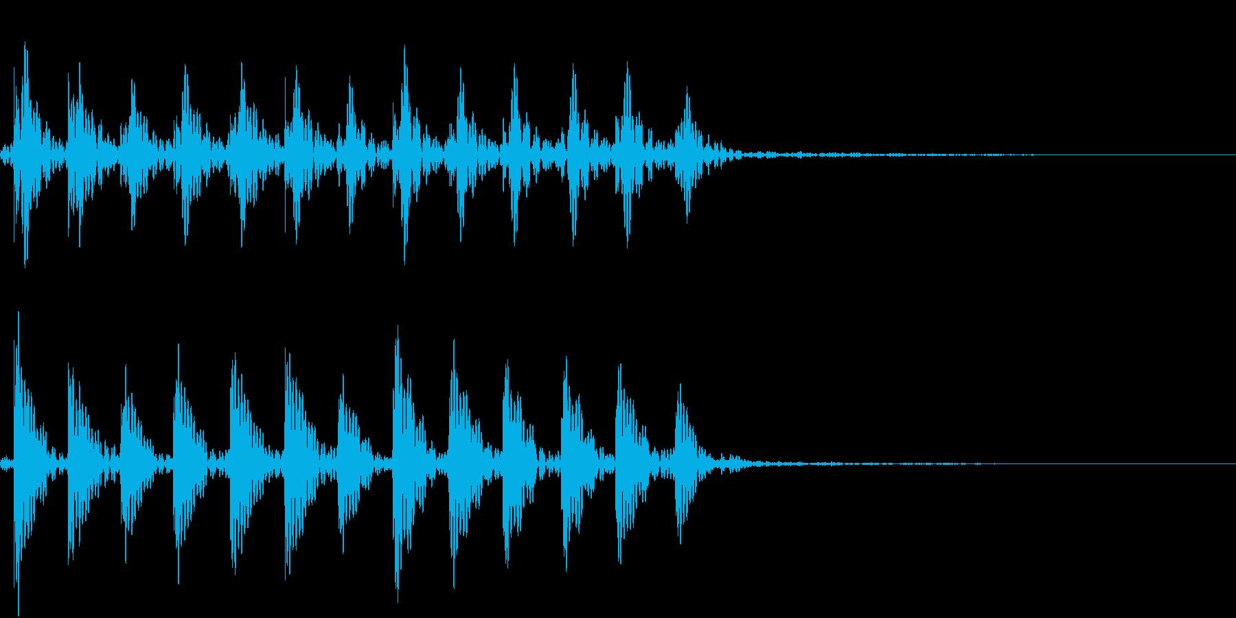 ドアを激しくたたく音(ドンドンドン)の再生済みの波形