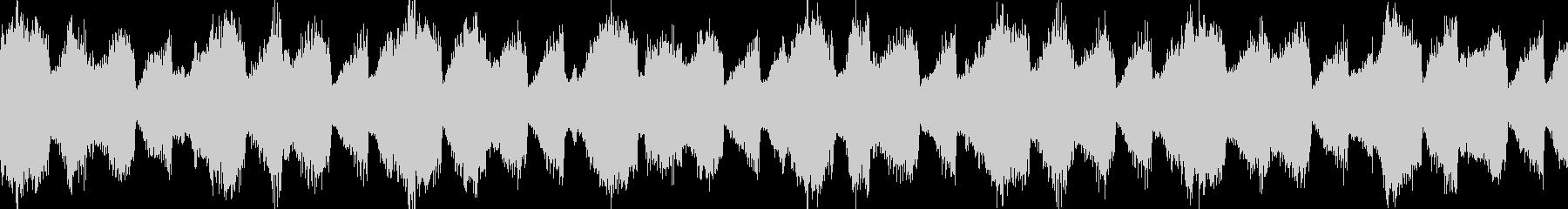 ループする神秘的なBGMの未再生の波形