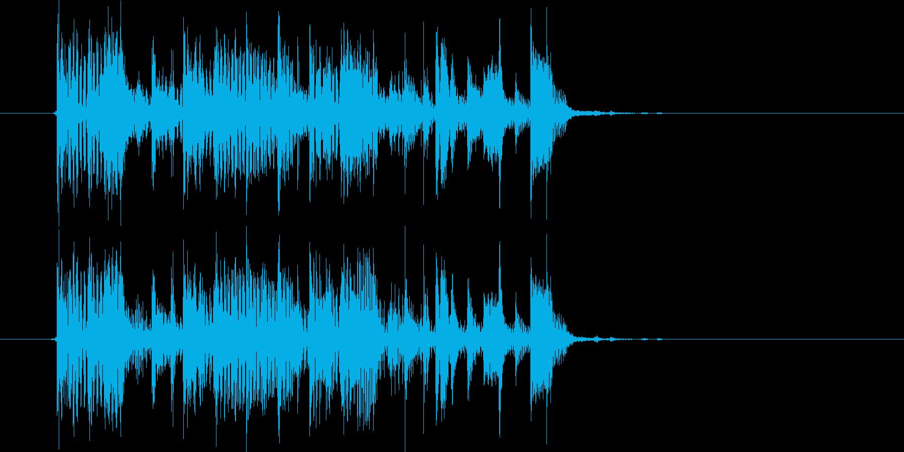 ドキドキ感あるビートシンセジングルの再生済みの波形