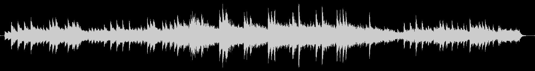 冬っぽいピアノのバラードの未再生の波形