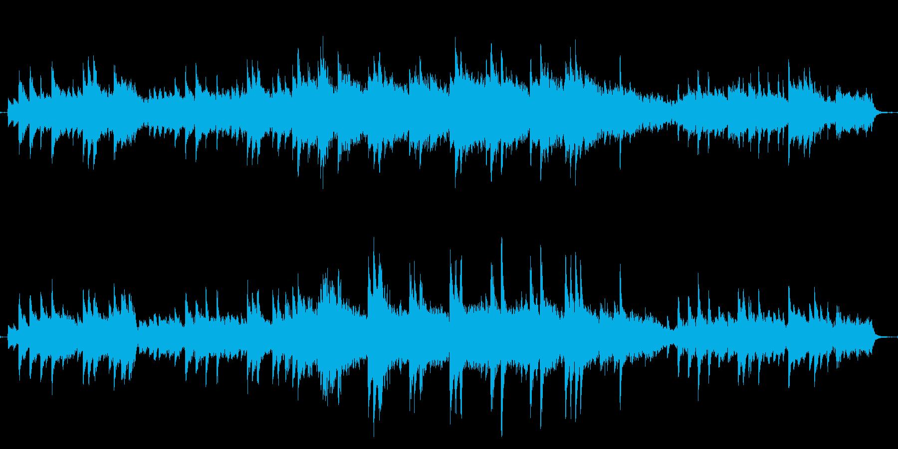 冬っぽいピアノのバラードの再生済みの波形