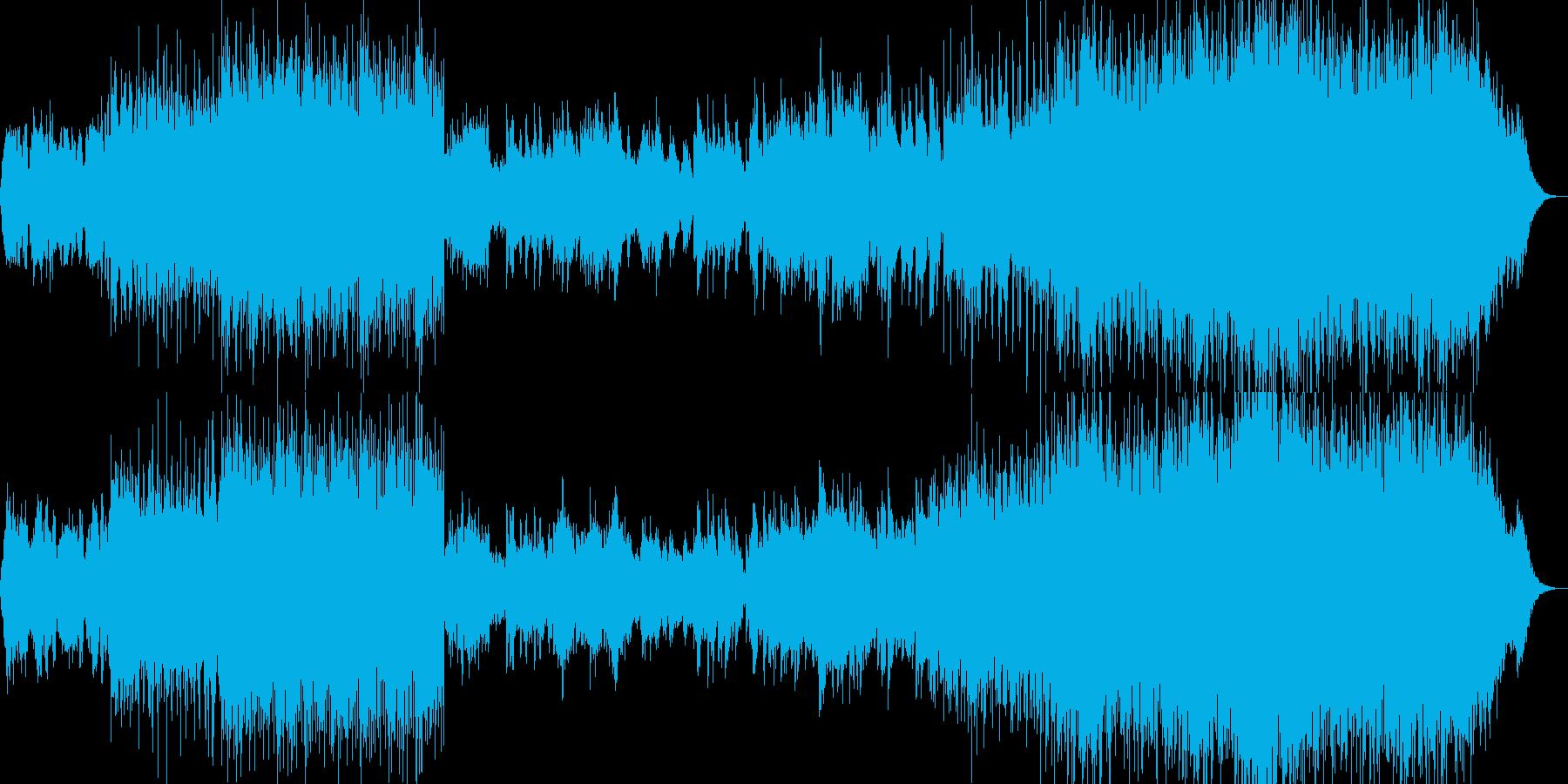 コーラスとエスニックリズムの再生済みの波形