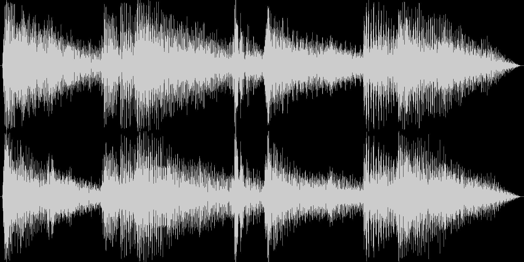 ピアノが綺麗なジャズの未再生の波形