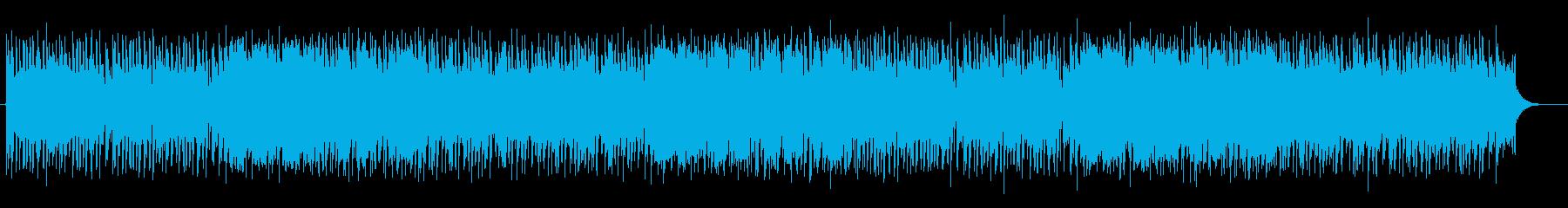 うきうきする陽気なアップテンポの曲の再生済みの波形