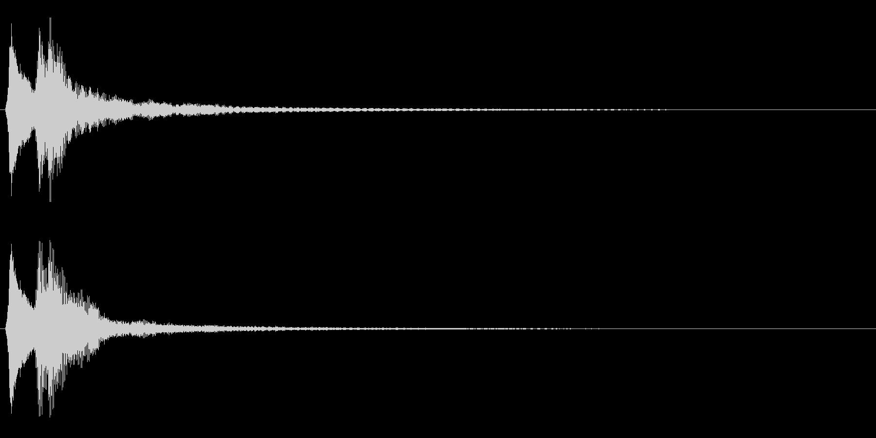 キラーン。きらめく・テロップ音(低め)の未再生の波形