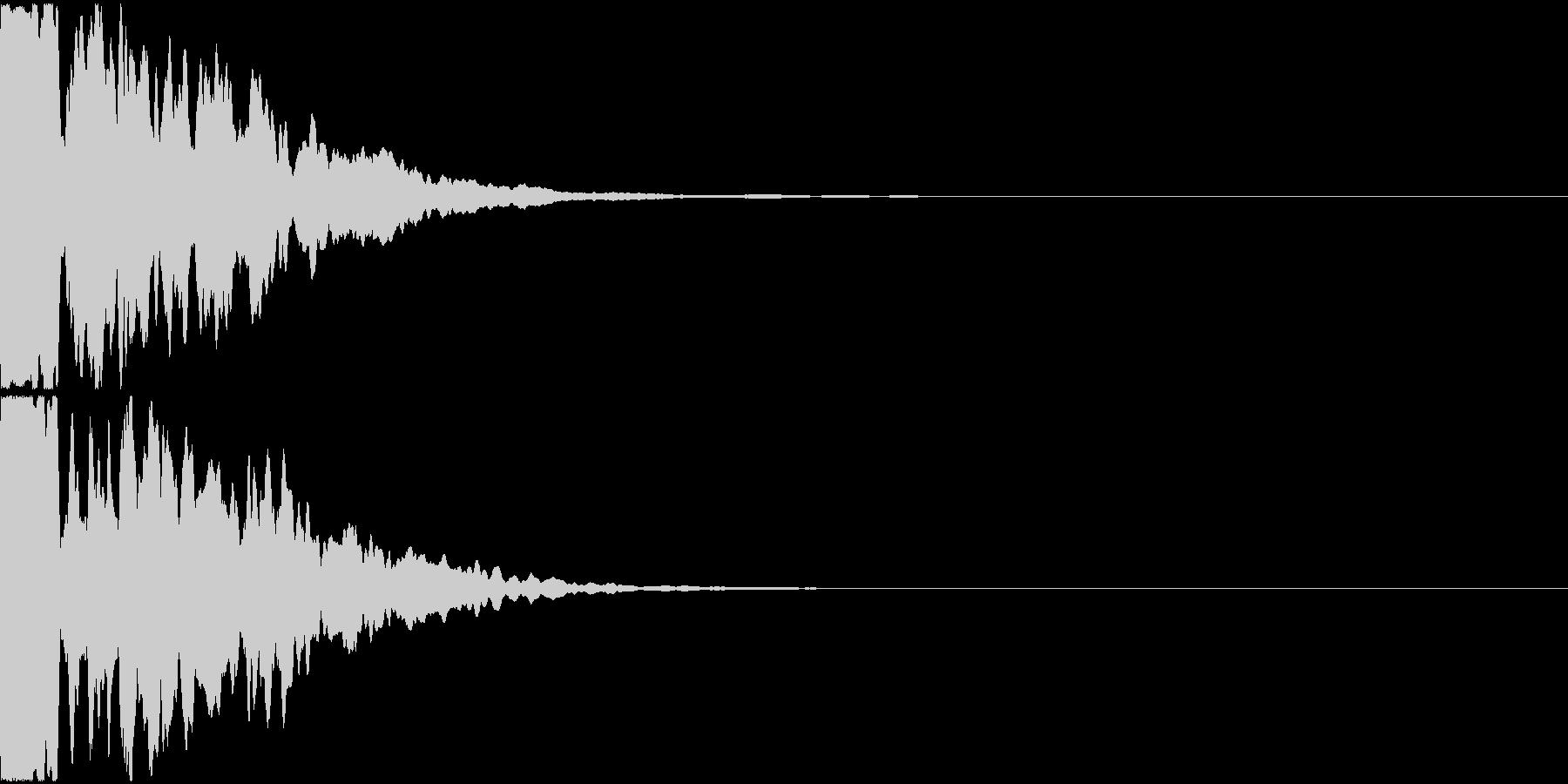 ポーン(ソナー音、電子音)の未再生の波形