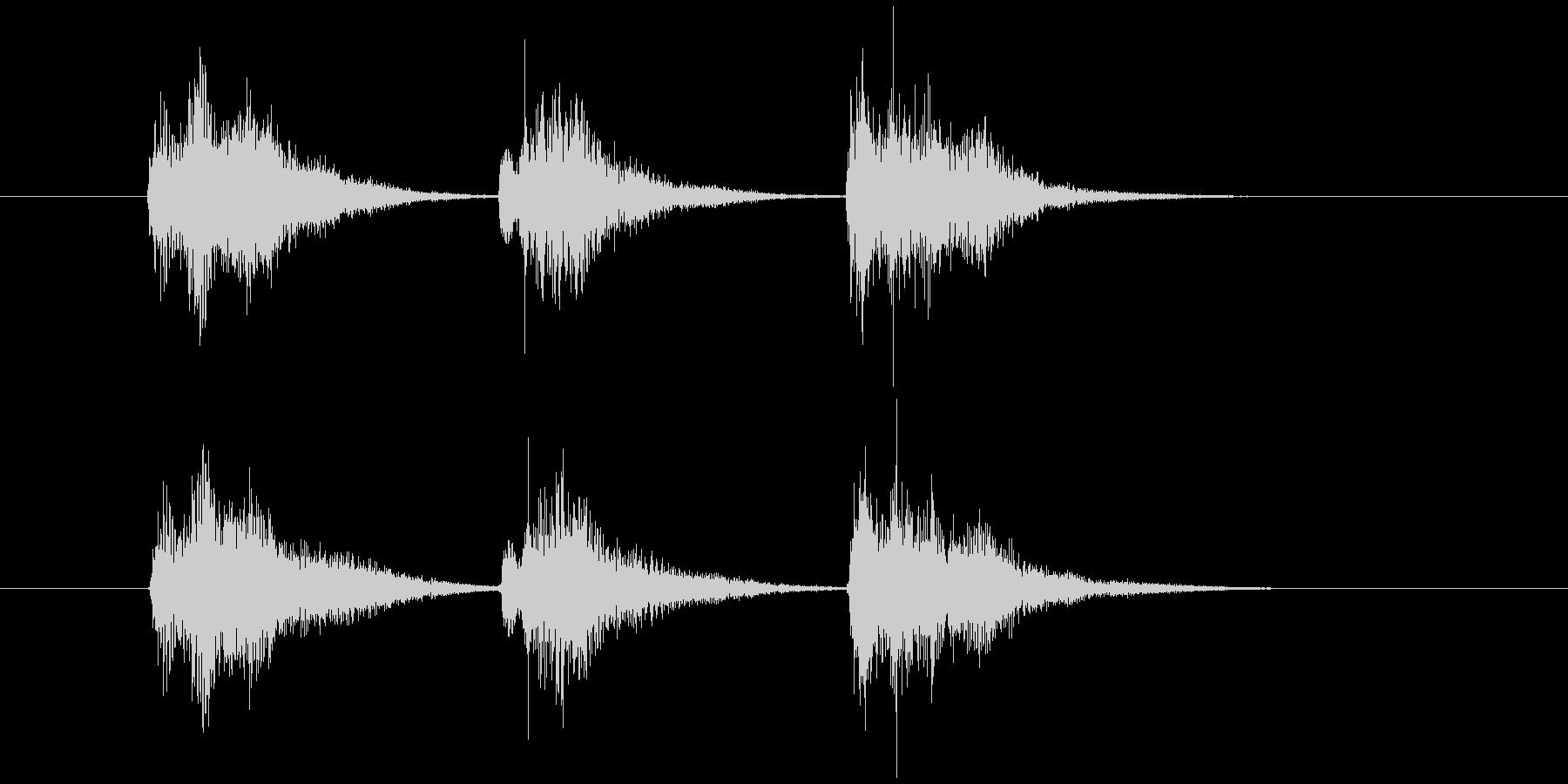 ゲーム等、開始前カウント(3-2-1)Bの未再生の波形