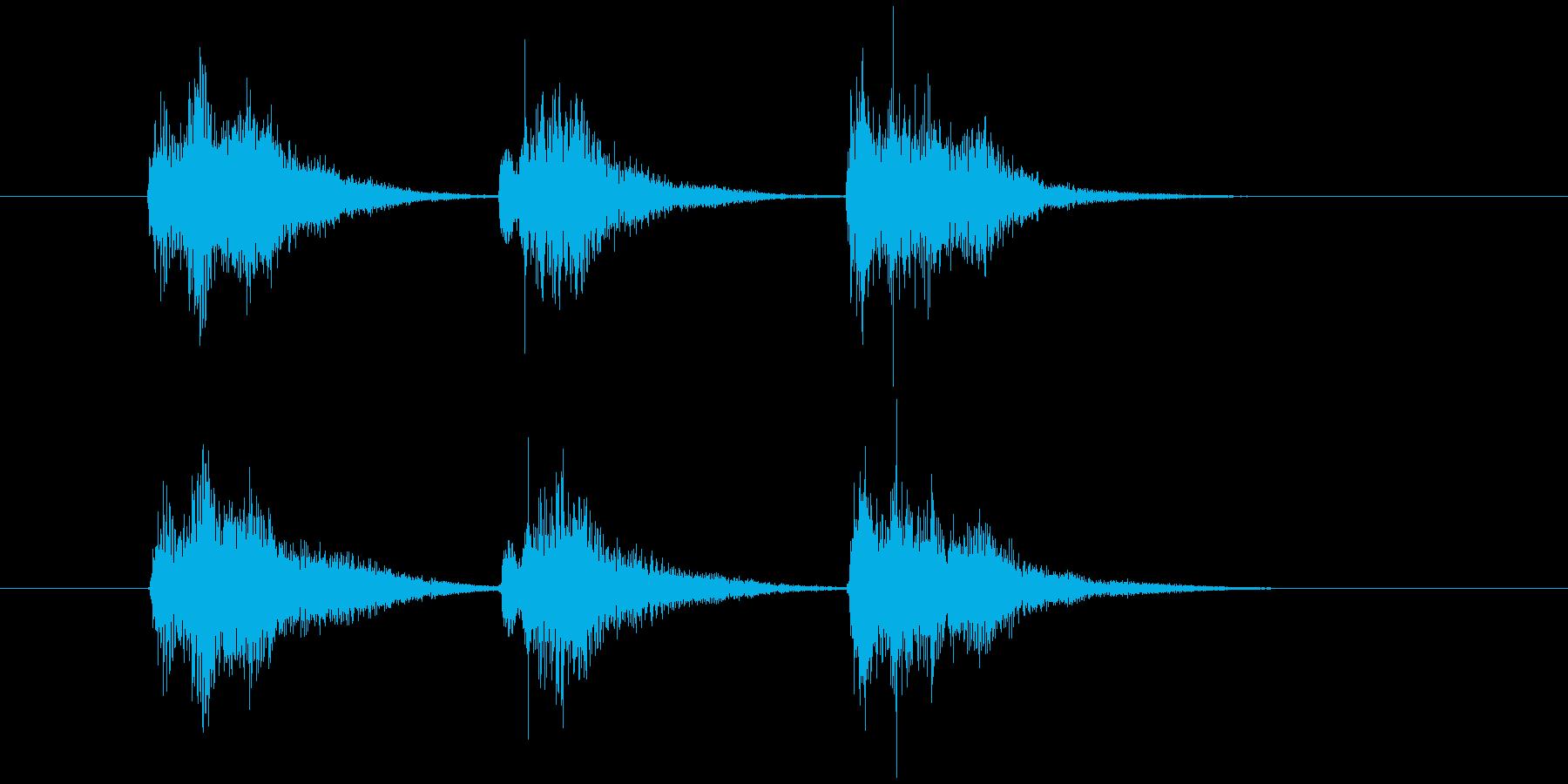 ゲーム等、開始前カウント(3-2-1)Bの再生済みの波形
