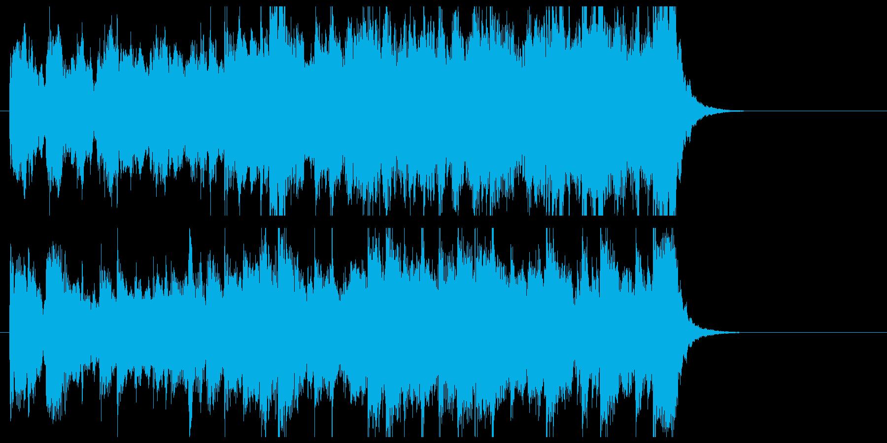 緩やかで軽快なクラシカルジングルの再生済みの波形