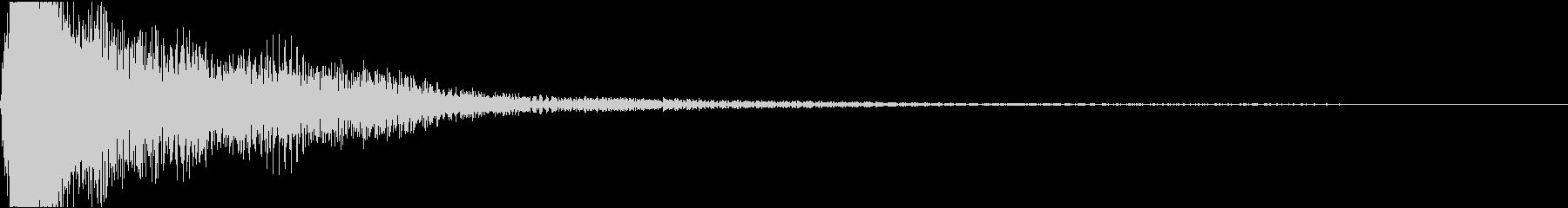 レ♯/ミ♭単音のオーケストラルヒットの未再生の波形
