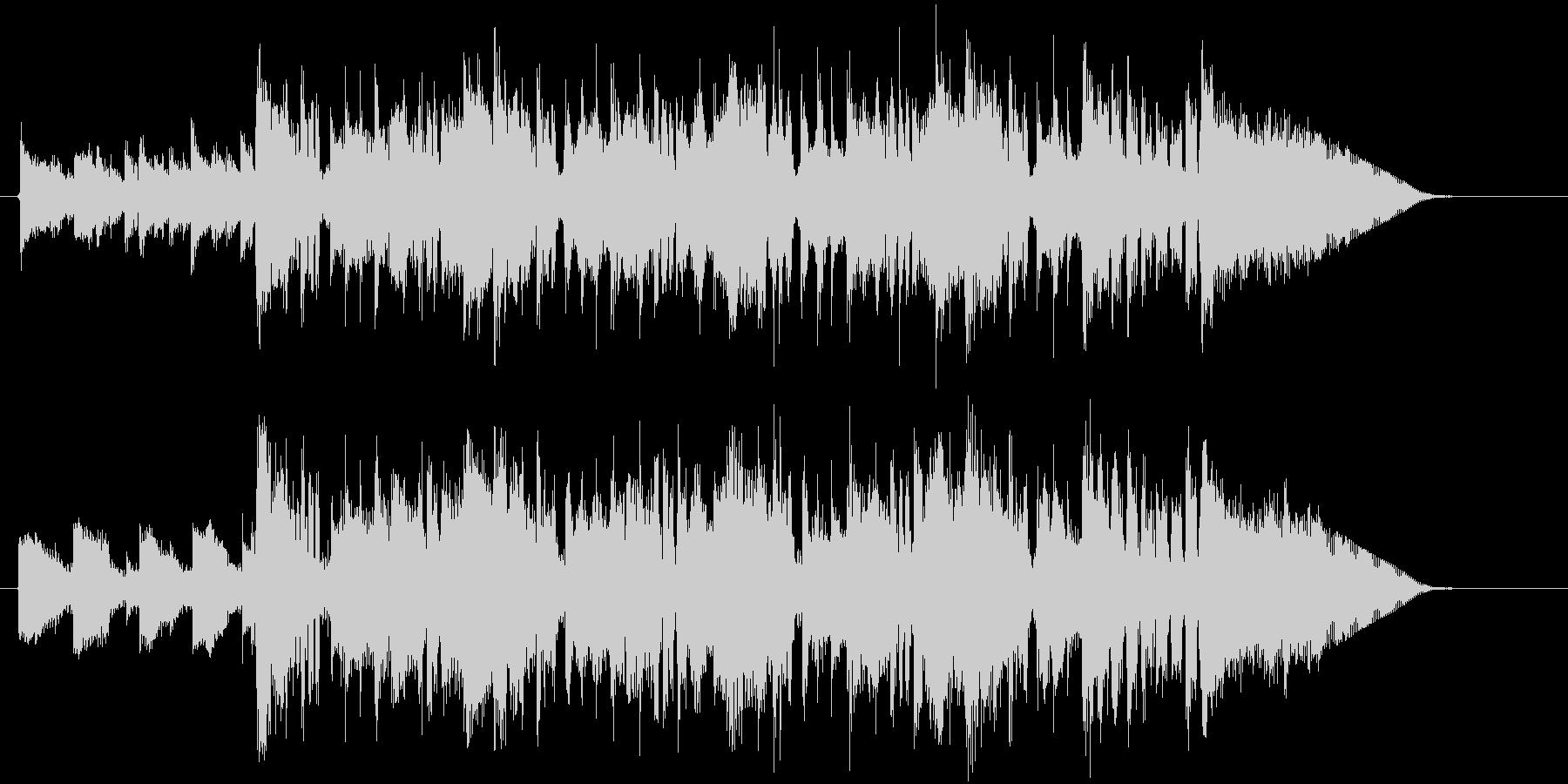 緩やかでメローなアコギとシンセジングルの未再生の波形