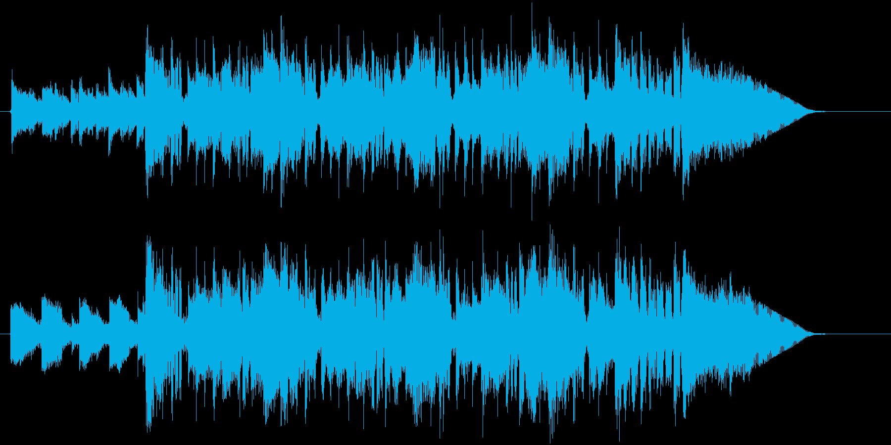 緩やかでメローなアコギとシンセジングルの再生済みの波形