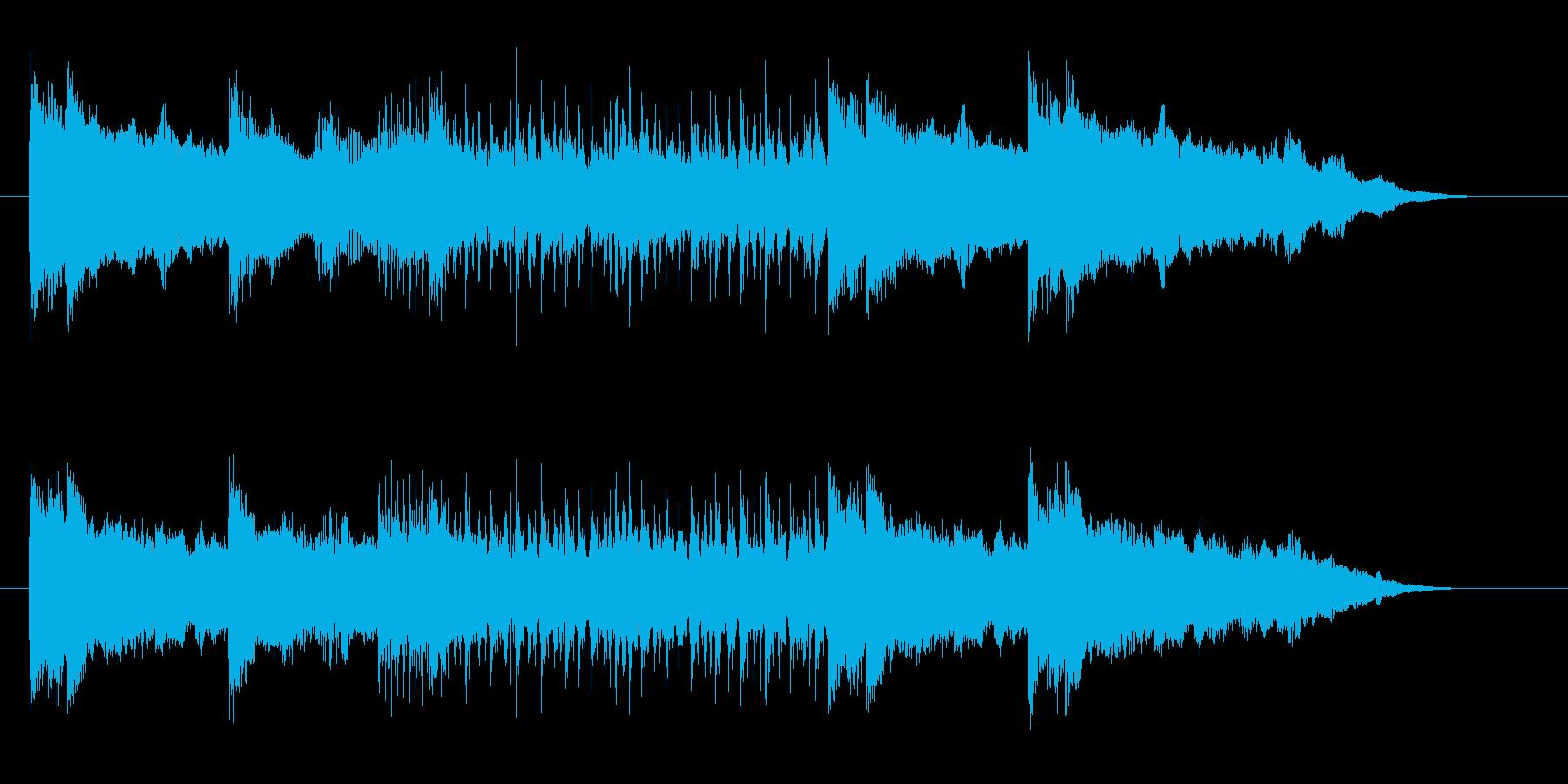 激しいメタルミュージックのサウンドロゴの再生済みの波形