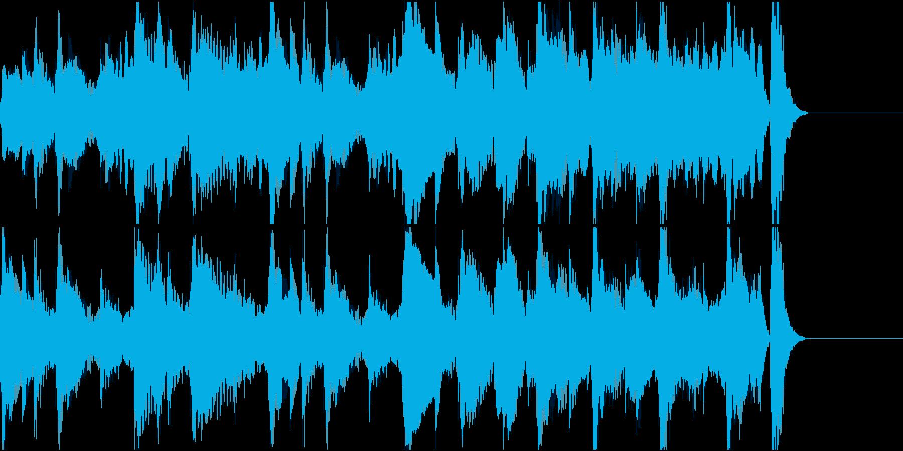 ほのぼのした15秒弱のジングルの再生済みの波形