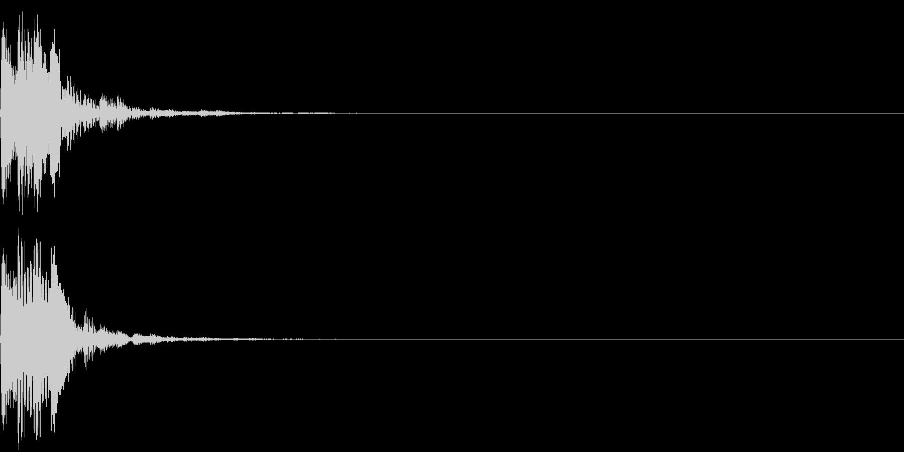 項目選択音02の未再生の波形