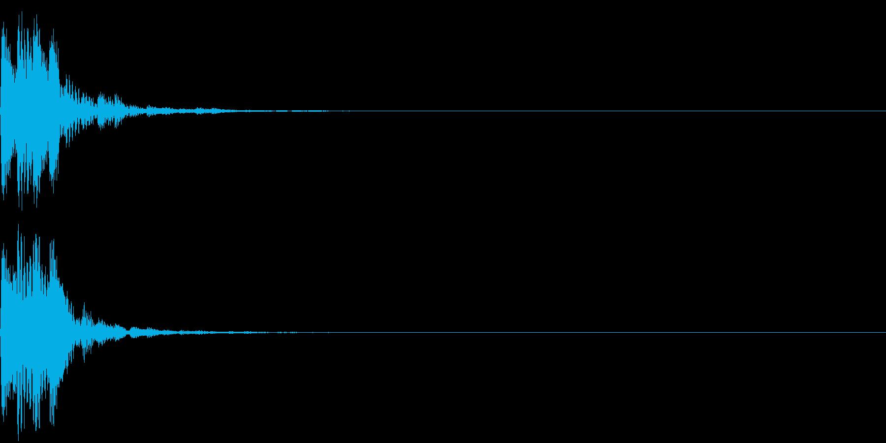 項目選択音02の再生済みの波形