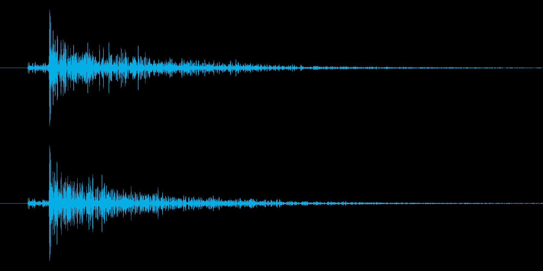 ドン、という衝撃音です。の再生済みの波形
