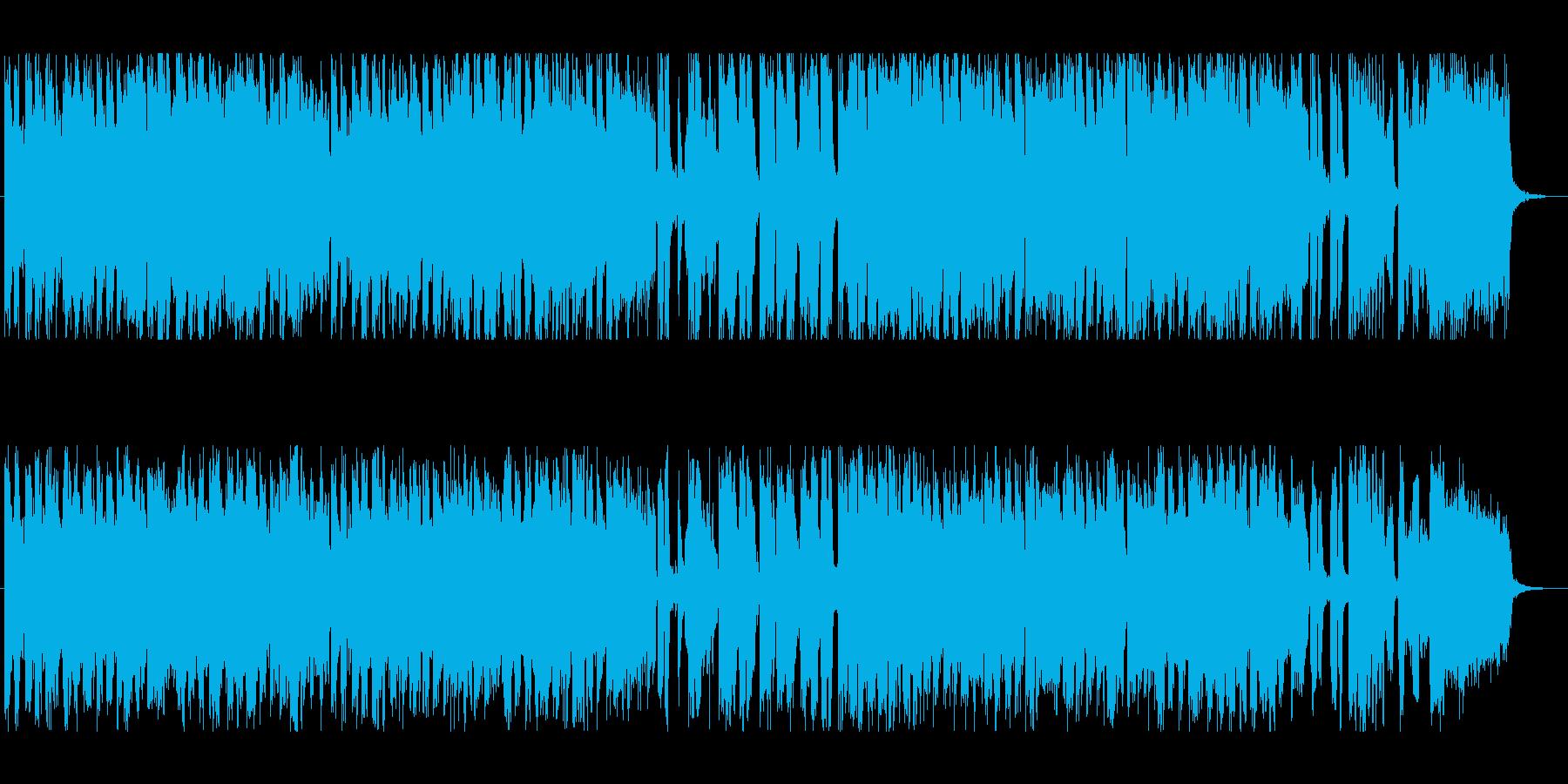 通販番組のあらゆる場面にの再生済みの波形