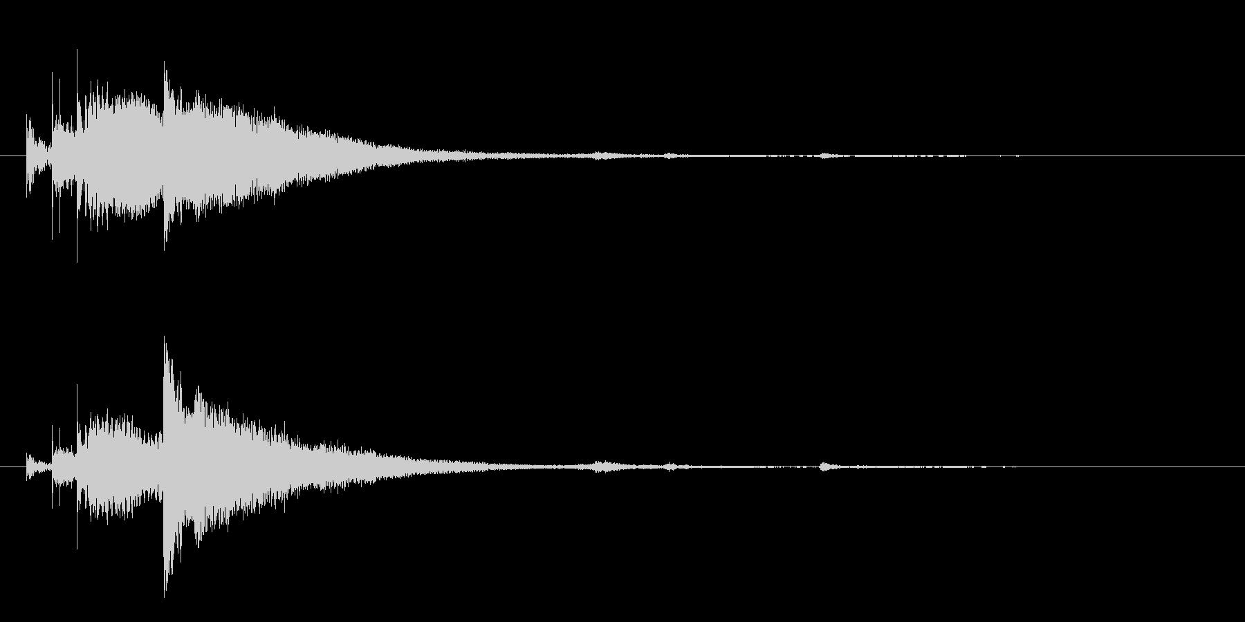 タラランシャーン、タム回し→シンバルの未再生の波形