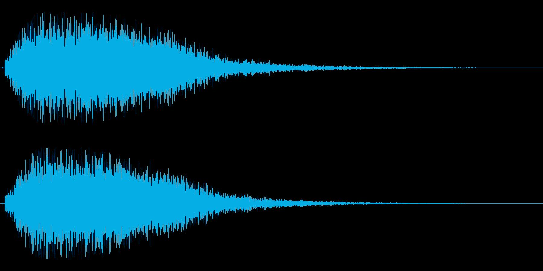 ビョロロローン(派手で厚みがある効果音)の再生済みの波形