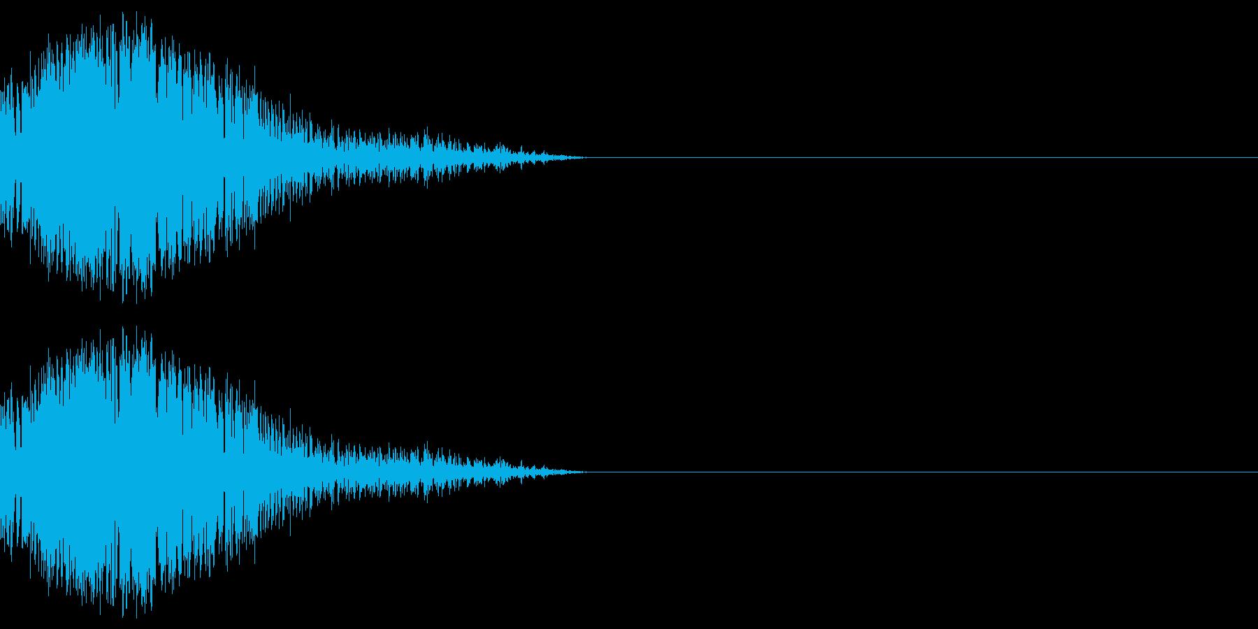 シュッ(ワープ/瞬間移動/忍者)の再生済みの波形