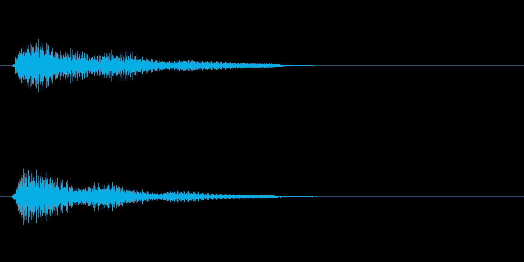 きらーん(キラキラしたピアノとシンセ音)の再生済みの波形