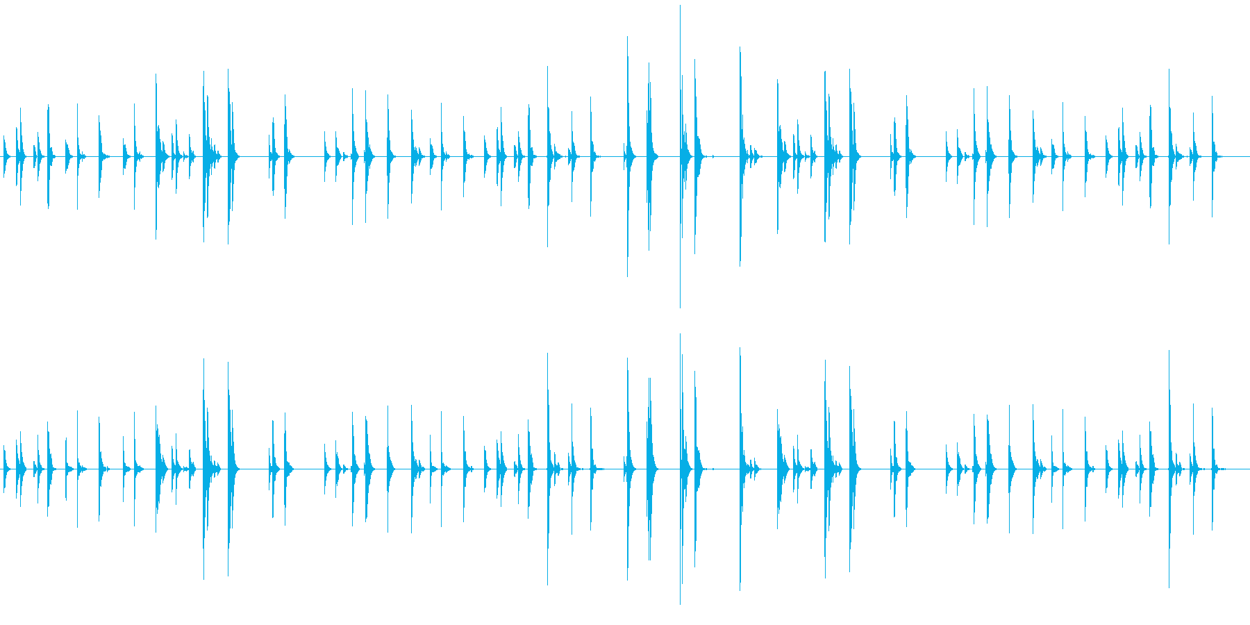 チリン、チリーン 夏の音の再生済みの波形