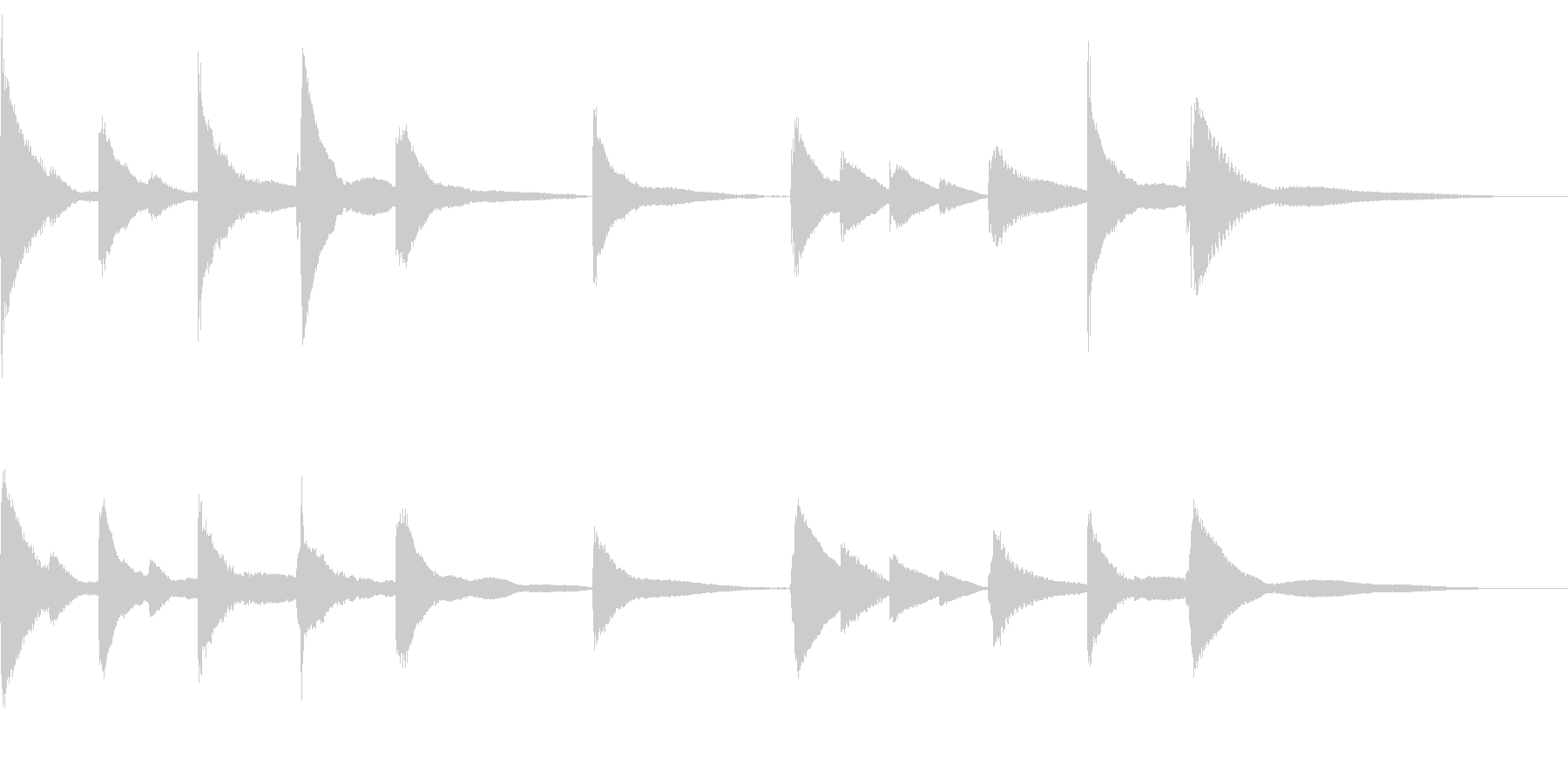 悲しみのBGMの未再生の波形
