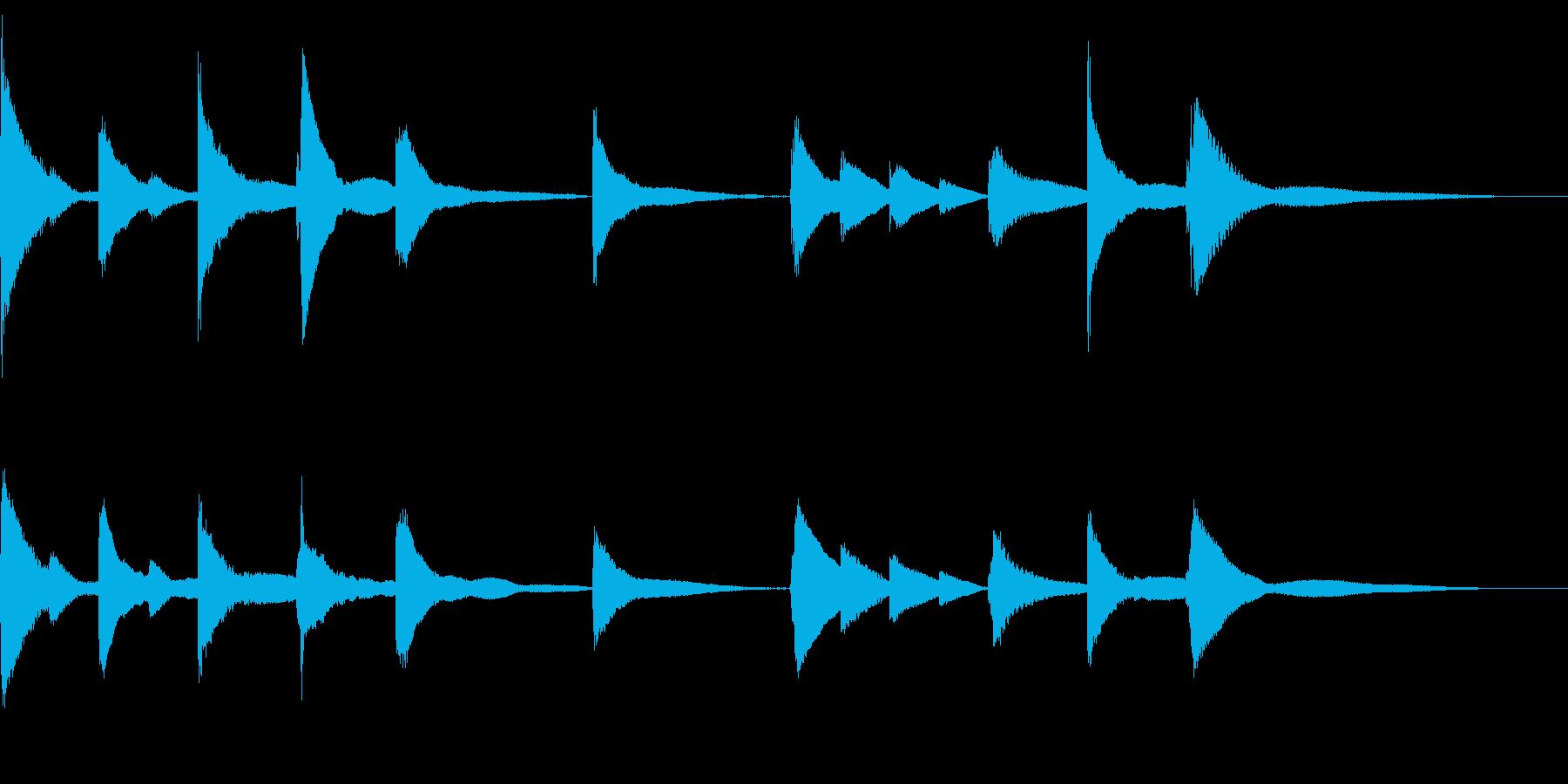 悲しみのBGMの再生済みの波形
