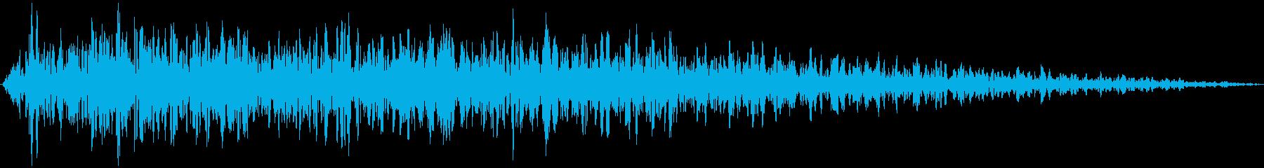 ズーン (ショック、衝撃を受ける) 短めの再生済みの波形