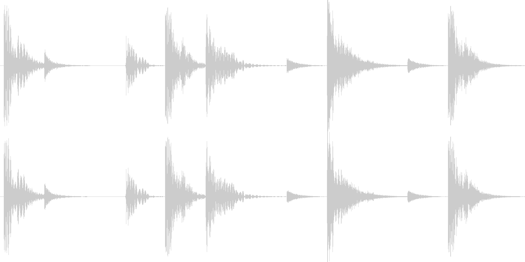 グルーブ感のあるドラムパターンですの未再生の波形