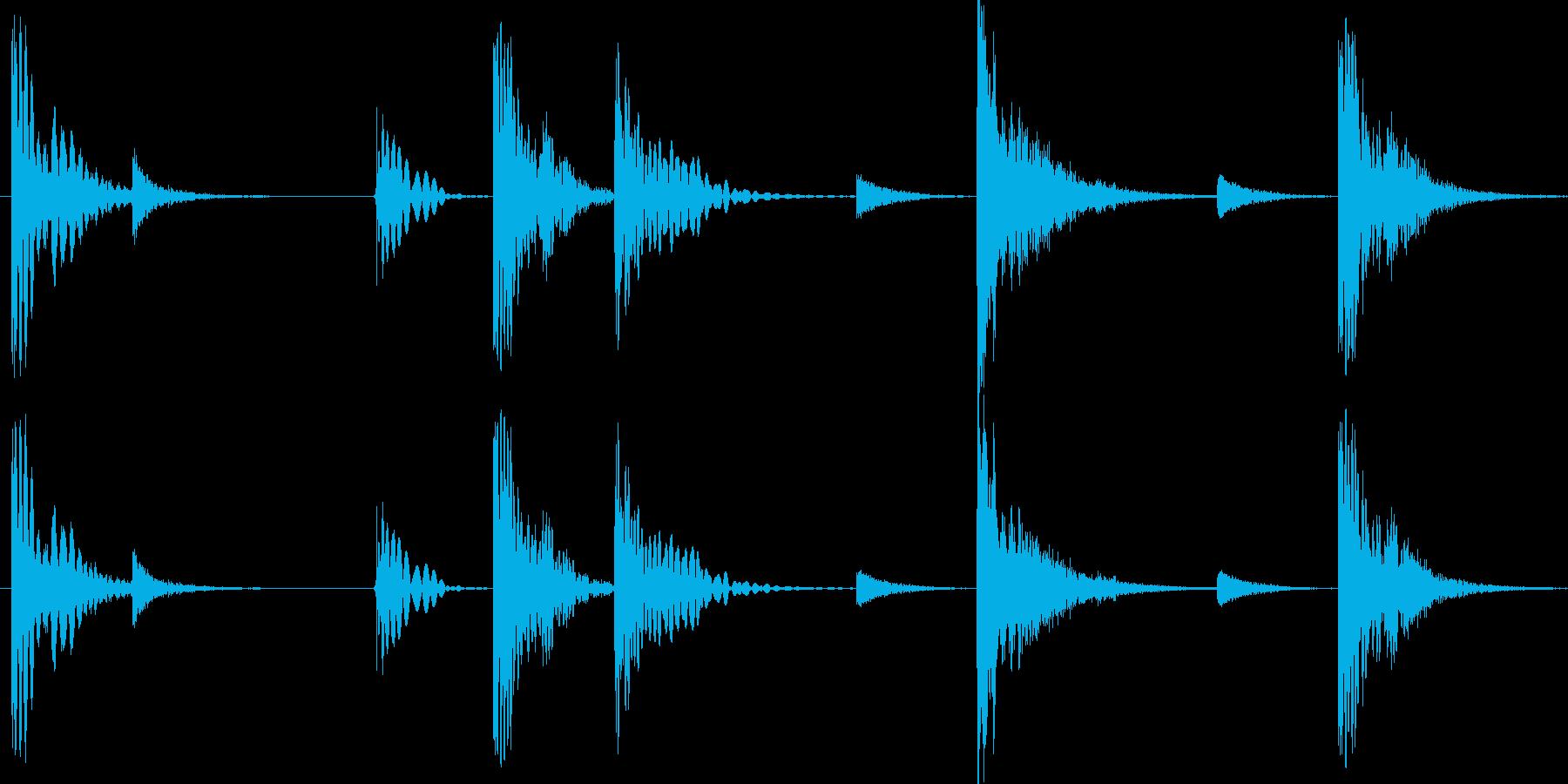 グルーブ感のあるドラムパターンですの再生済みの波形