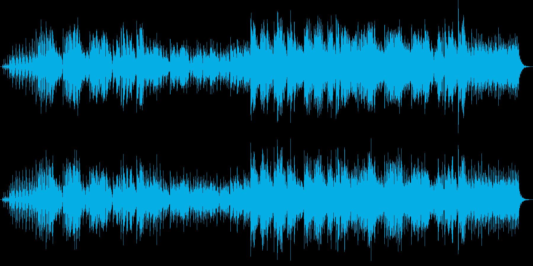 雨に唄えばみたいなおしゃれなスイング曲の再生済みの波形