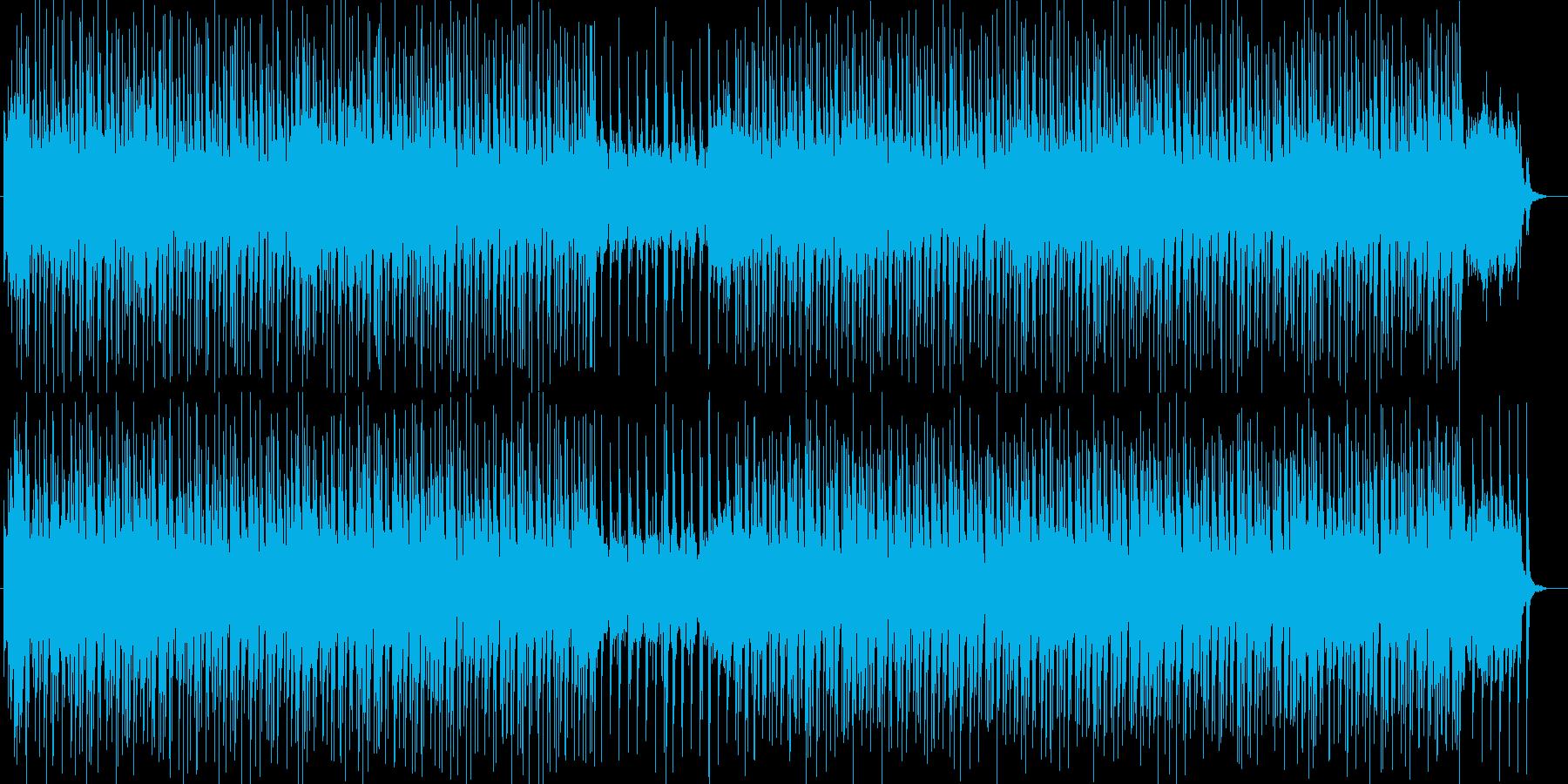 和を感じさせるテクノ曲の再生済みの波形